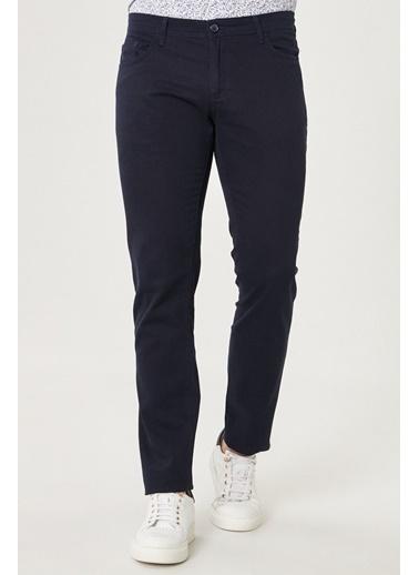 AC&Co / Altınyıldız Classics Kanvas Slim Fit Dar Kesim %100 Koton 5 Cep Pantolon 4A0121100098 Lacivert